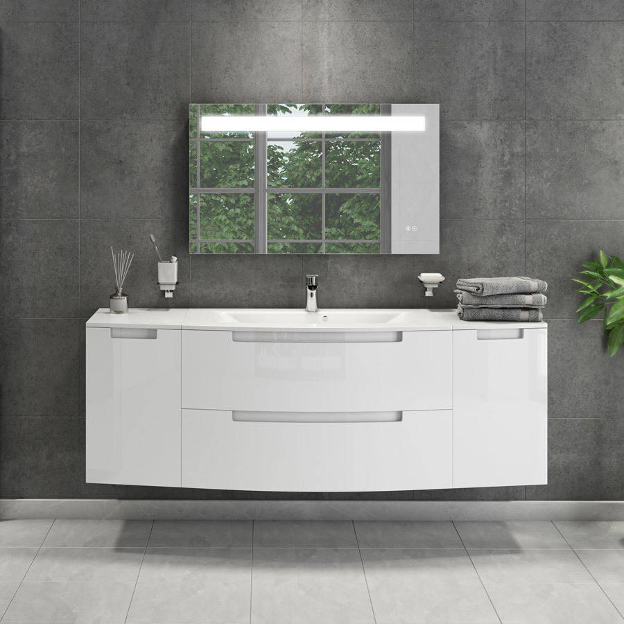 Cassellie Henley 300mm Gloss White Right Hand Side Cabinet-2