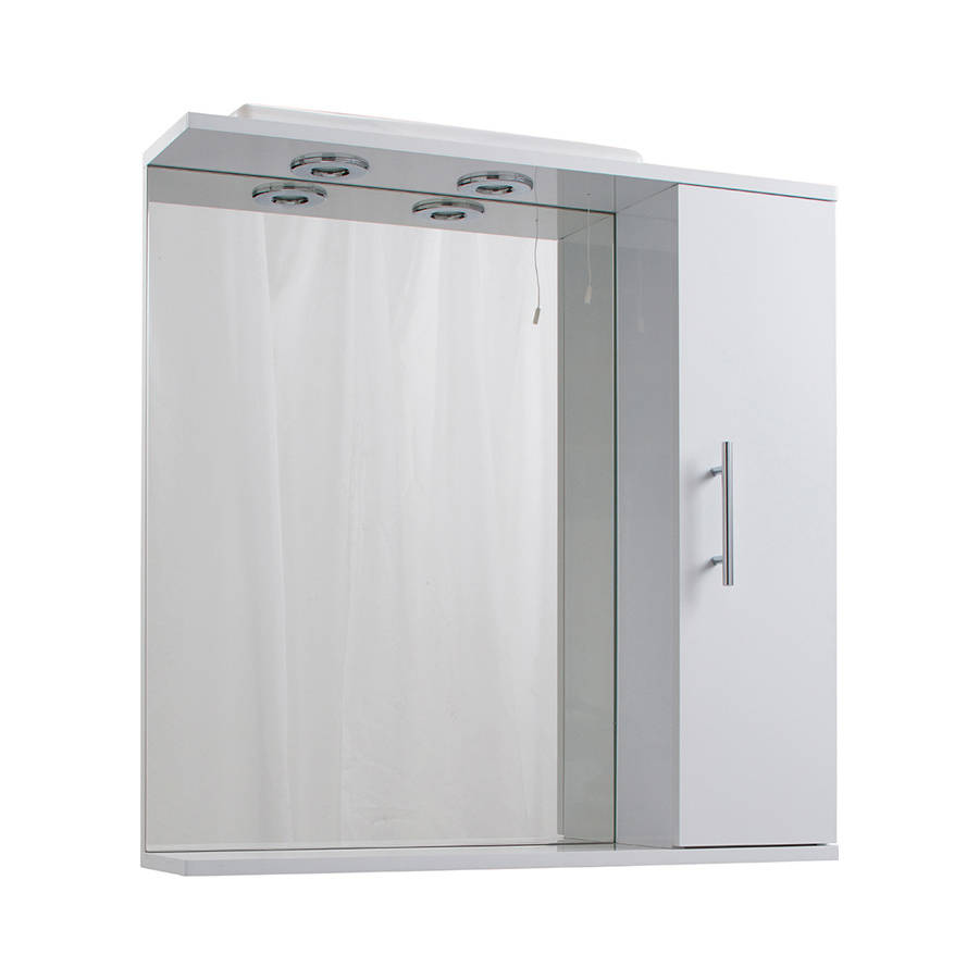 Cassellie Kass 750mm LED Mirrored Cabinet-1