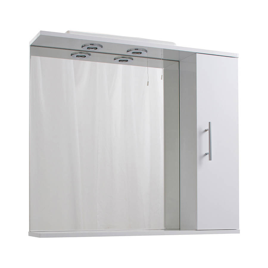 Cassellie Kass 850mm LED Mirrored Cabinet-1