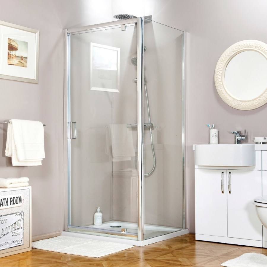 Cassellie Seis 700mm Pivot Shower Door 2