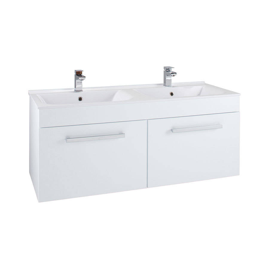 WSB-Cassellie-Kass-1250mm-Gloss-White-2-Drawer-Cabinet-&-Double-Polymarble-Basin--1