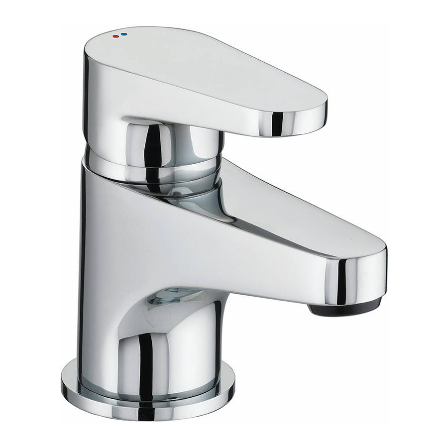 WS-Bristan Quest Basin Mixer with Clicker Waste-1