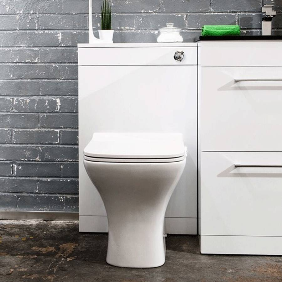 WS-Cassellie Idon 500mm Gloss White WC Unit-2