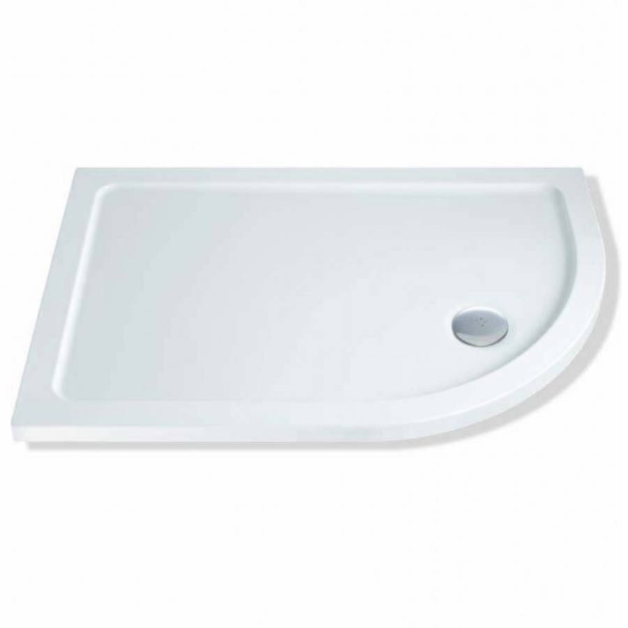 MX Elements 900 x 760mm Right Hand Offset Quadrant Flat Top Shower Tray