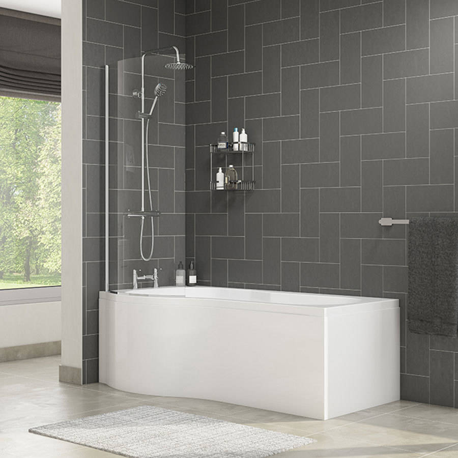 WSB-Cassellie-Tempest-1700mm-P-Shape-Bath-with-Screen-&-Side-Panel---Left-Hand-2