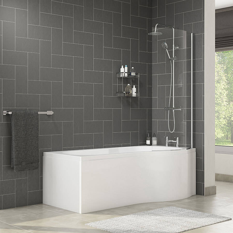 WSB-Cassellie-Tempest-1700mm-P-Shape-Bath-with-Screen-&-Side-Panel---Right-Hand-2