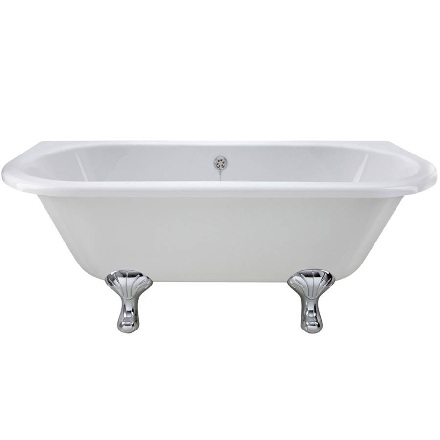 WS-Cassellie Samford 1700mm D Shaped Back to Wall Bath-1