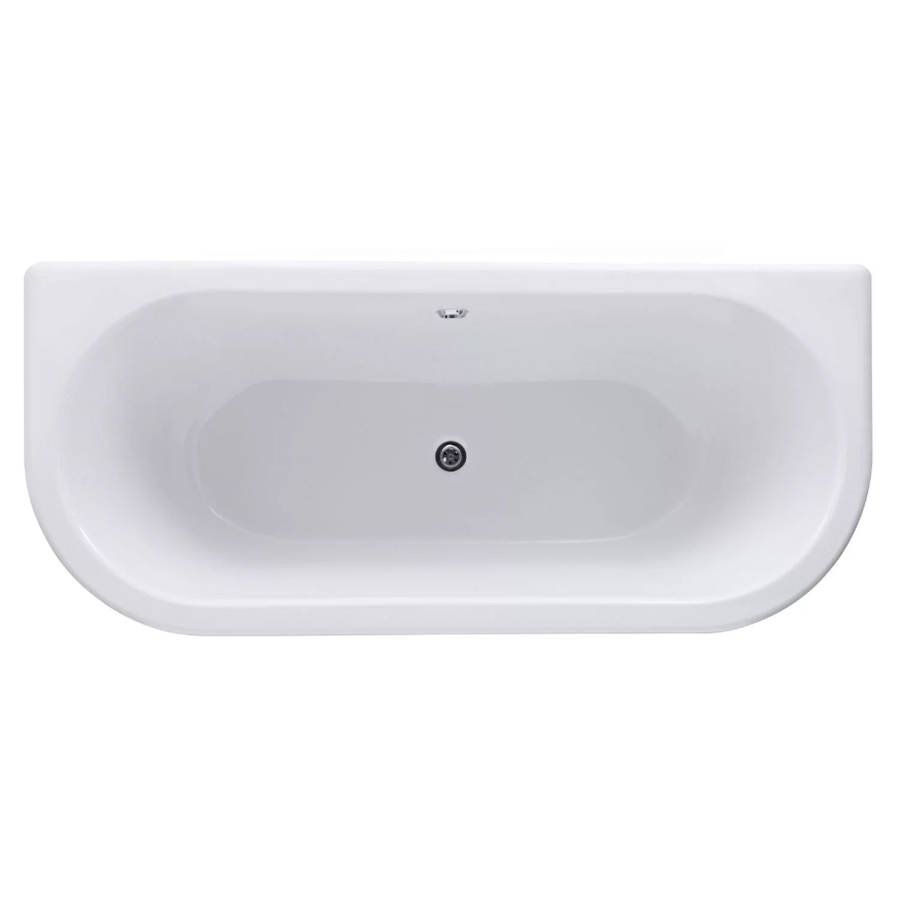 WS-Cassellie Samford 1700mm D Shaped Back to Wall Bath-2