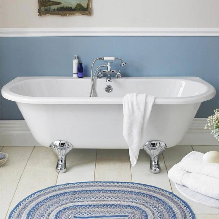 WS-Cassellie Samford 1700mm D Shaped Back to Wall Bath-3