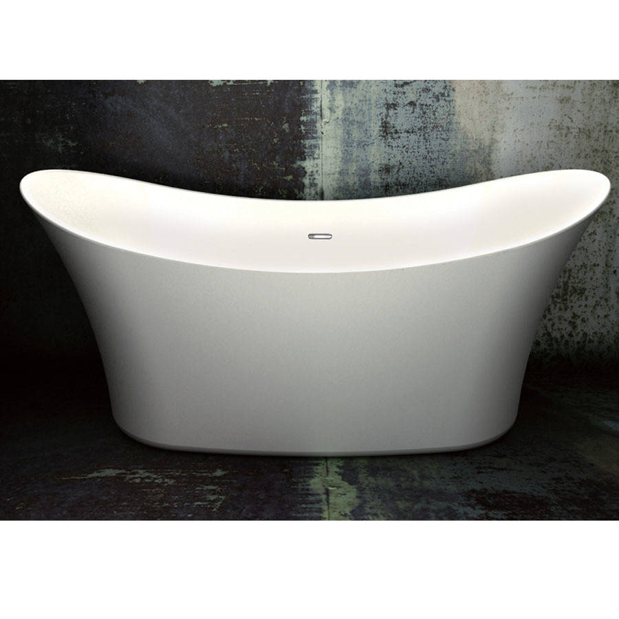 WS-Cassellie Margaux Black 1500mm Double Ended Freestanding Bath-1