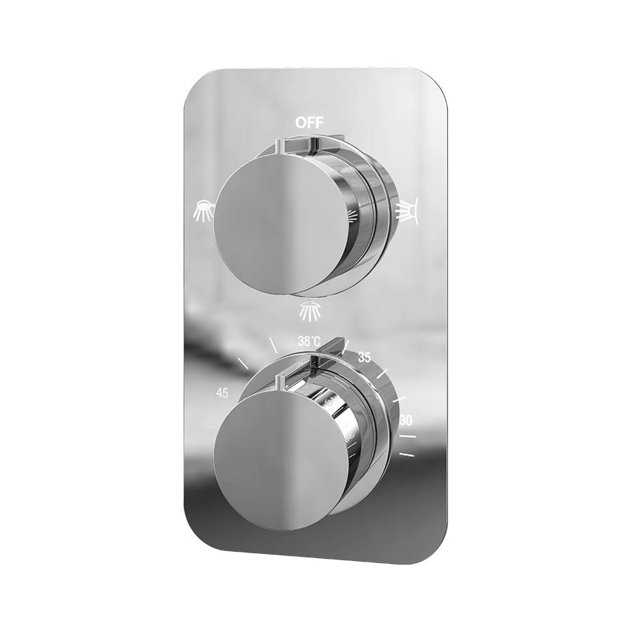 Cassellie Moderno Thermostatic Triple Function Concealed Shower Valve-1