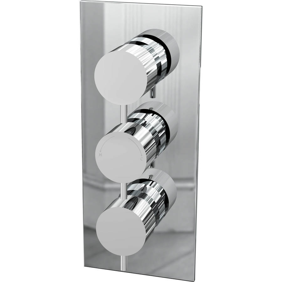 Cassellie Delphin Triple Round Dual Function Concealed Shower Valve-1