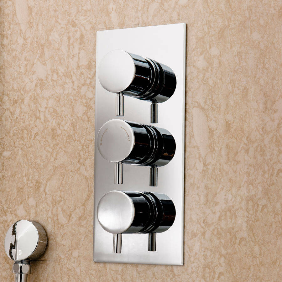 Cassellie Delphin Triple Round Dual Function Concealed Shower Valve-2