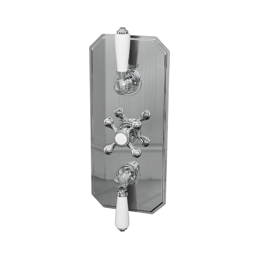 Cassellie Tudor Triple Traditional Dual Function Concealed Shower Valve-1