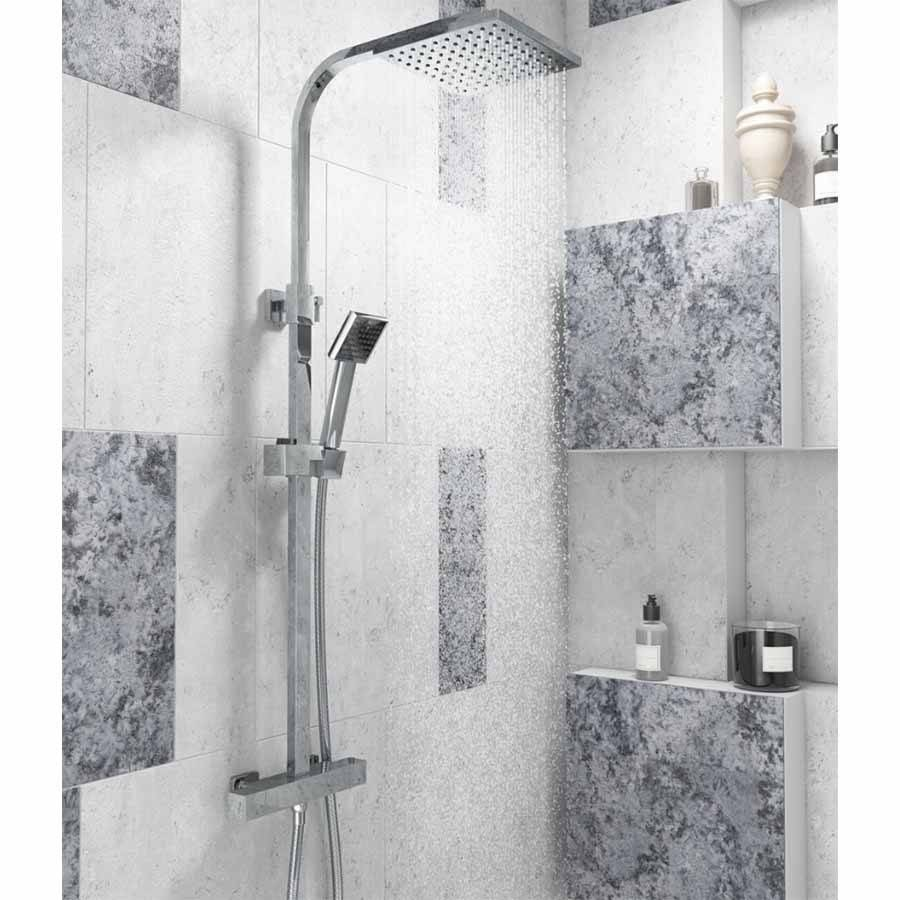 WS-Cassellie Elite Square Style Thermostatic Shower Kit-2