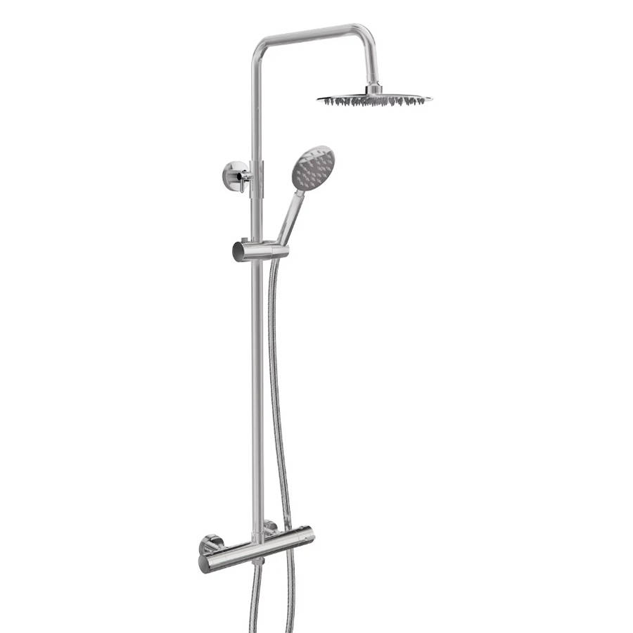 WS-Cassellie Videira Round Style Thermostatic Shower Kit-1