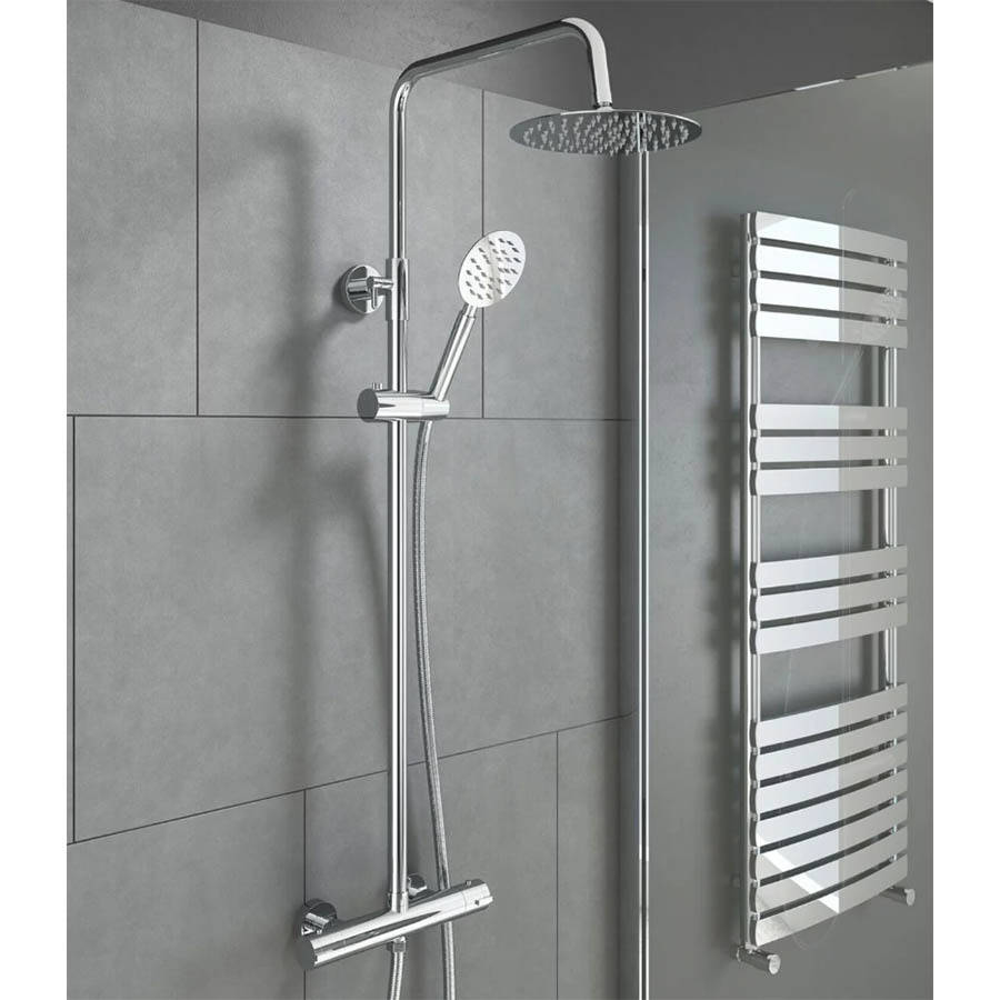 WS-Cassellie Videira Round Style Thermostatic Shower Kit-2