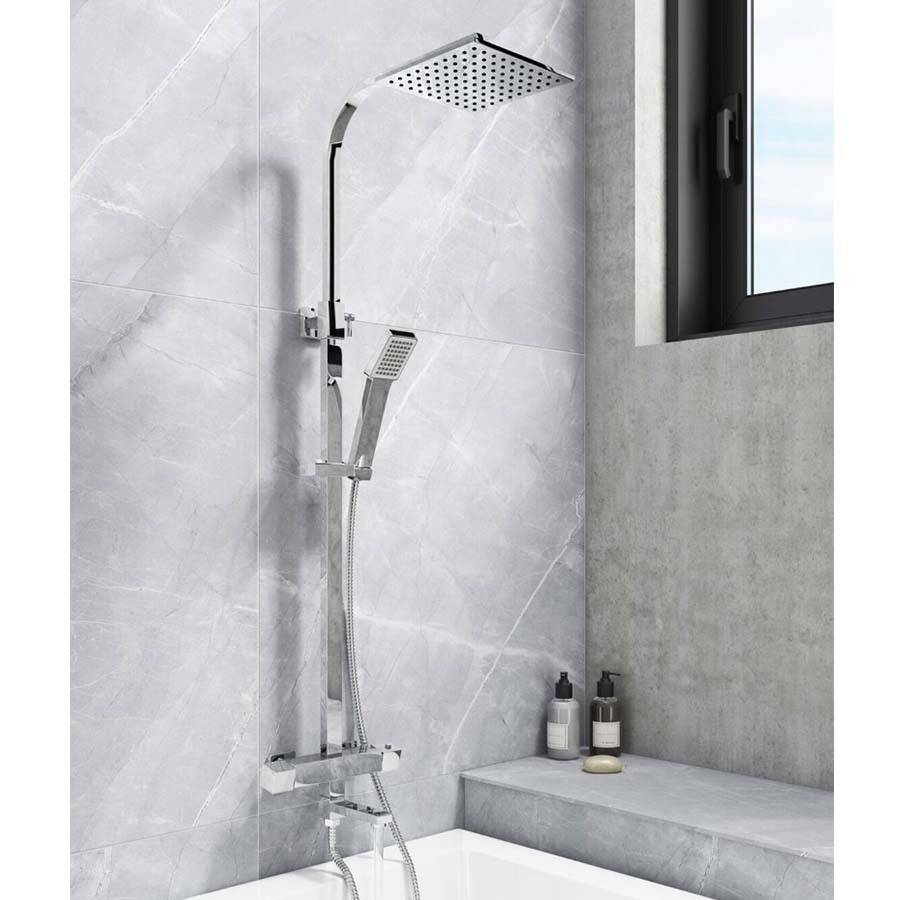WS-Cassellie Socorro Square Style Thermostatic Shower Kit-2