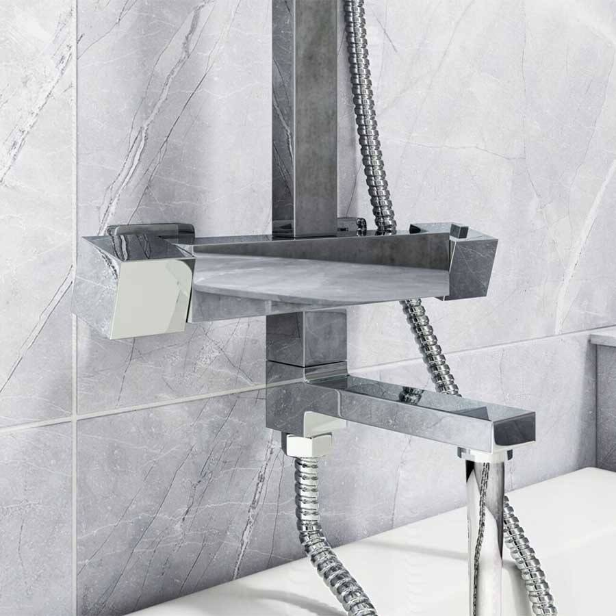 WS-Cassellie Socorro Square Style Thermostatic Shower Kit-3
