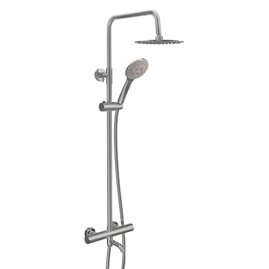 WS-Cassellie Santana Round Style Thermostatic Shower Kit-1