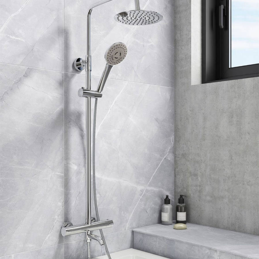 WS-Cassellie Santana Round Style Thermostatic Shower Kit-2