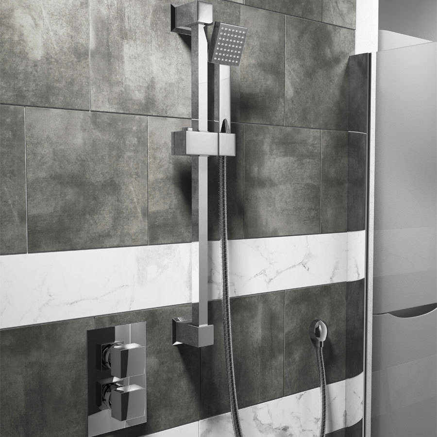 WSB-Cassellie-Twin-Squared-Concealed-Valve---Square-Slide-Rail-Kit-&-Square-Elbow-Shower-Bundle-X