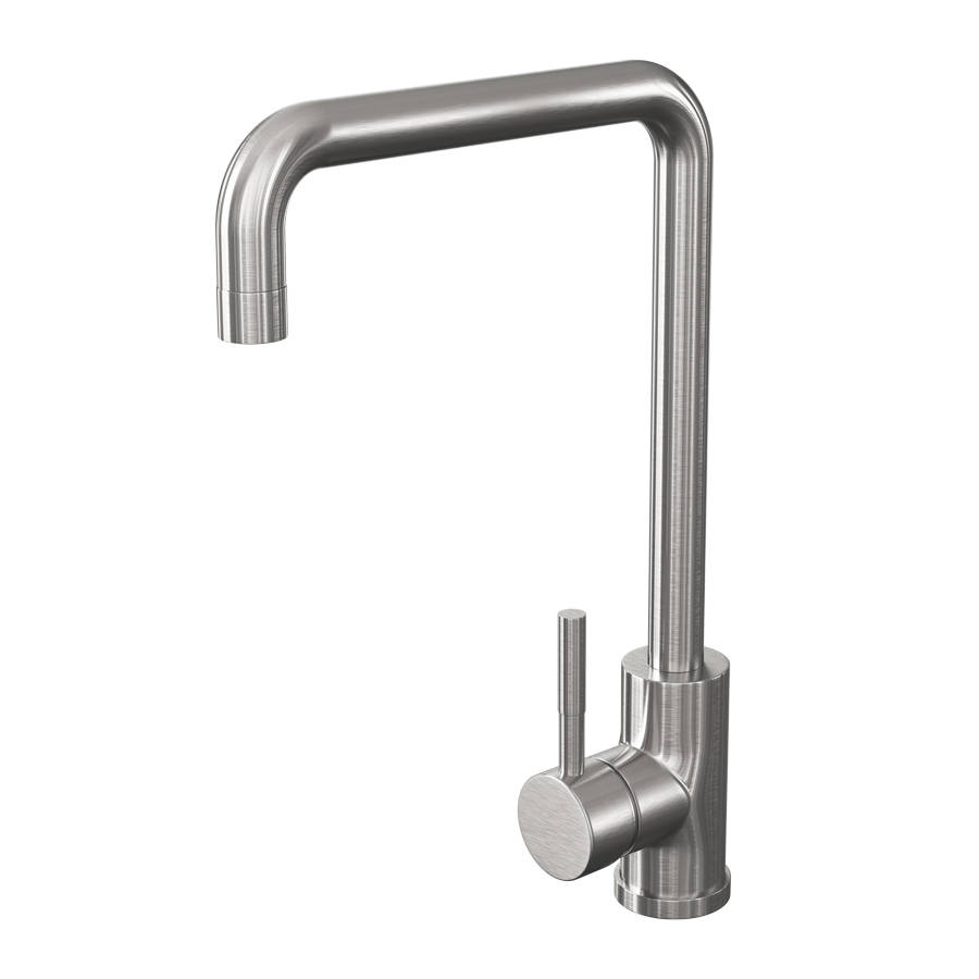 Cassellie Brushed Stainless Steel Single Lever Mono Kitchen Sink Mixer Tap-1