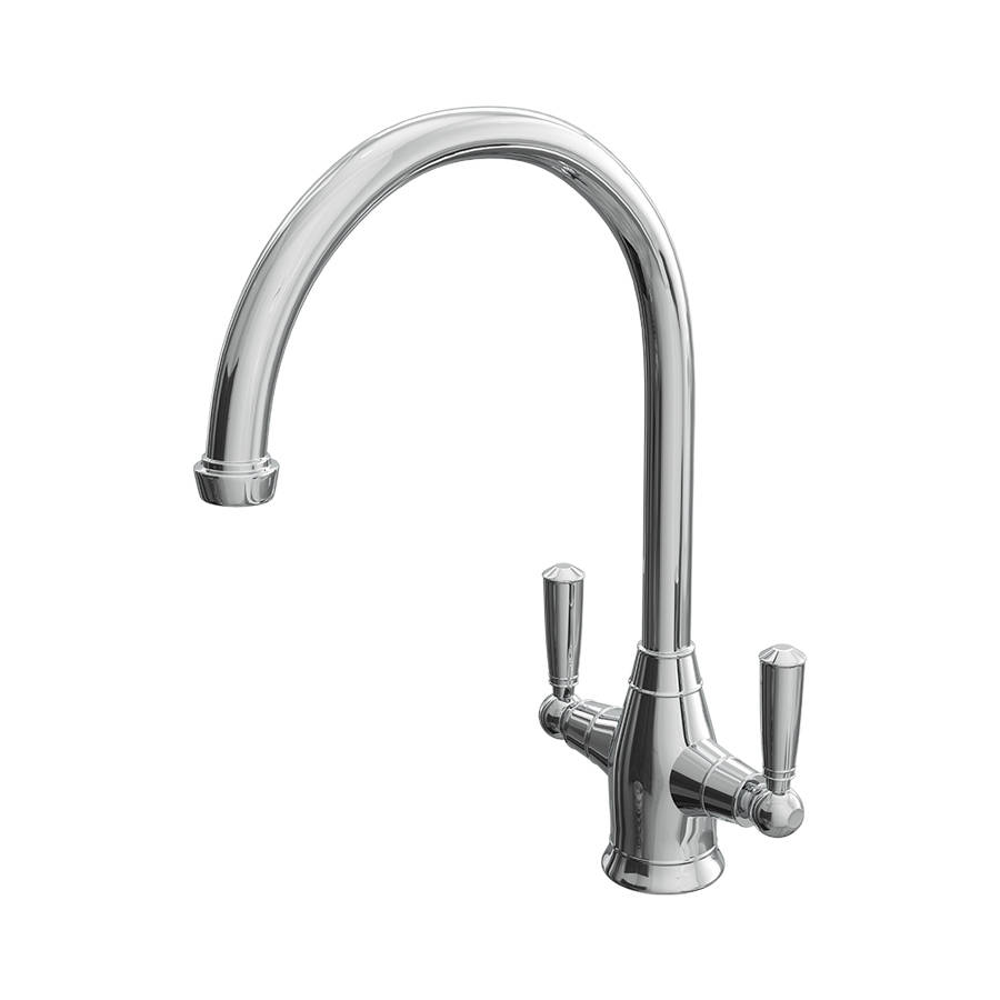 Cassellie Dual Lever Curved Mono Kitchen Sink Mixer Tap-1