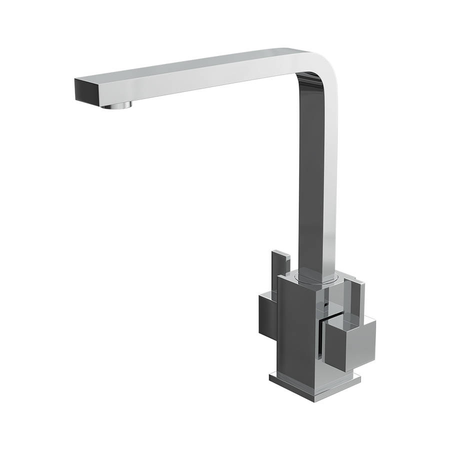 Cassellie Dual Lever Square Mono Kitchen Sink Mixer Tap-1