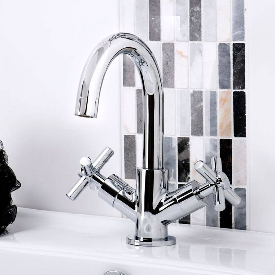 WS-Cassellie Dune Mono Basin Mixer Tap with Click Clack Waste-2