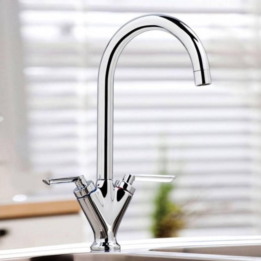 WS-Cassellie Dual Lever Mono Kitchen Sink Mixer Tap-2