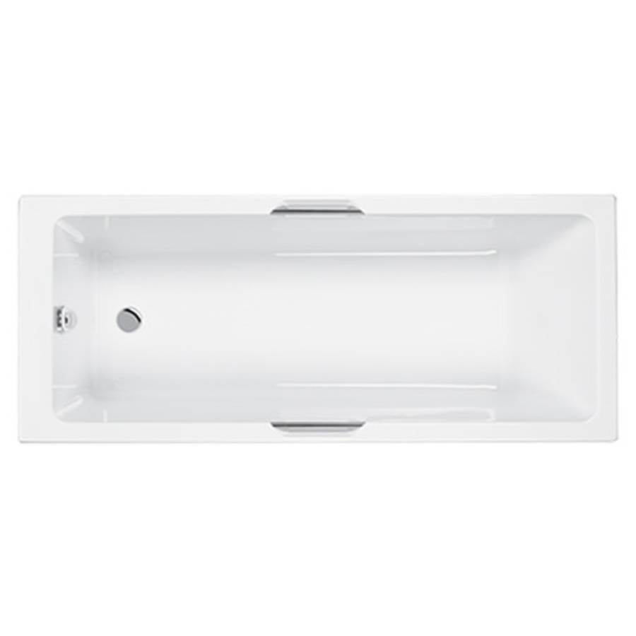 Carron Eco Integra 1500 x 700mm Single Ended 5mm Acrylic Bath with Twin Grips-1