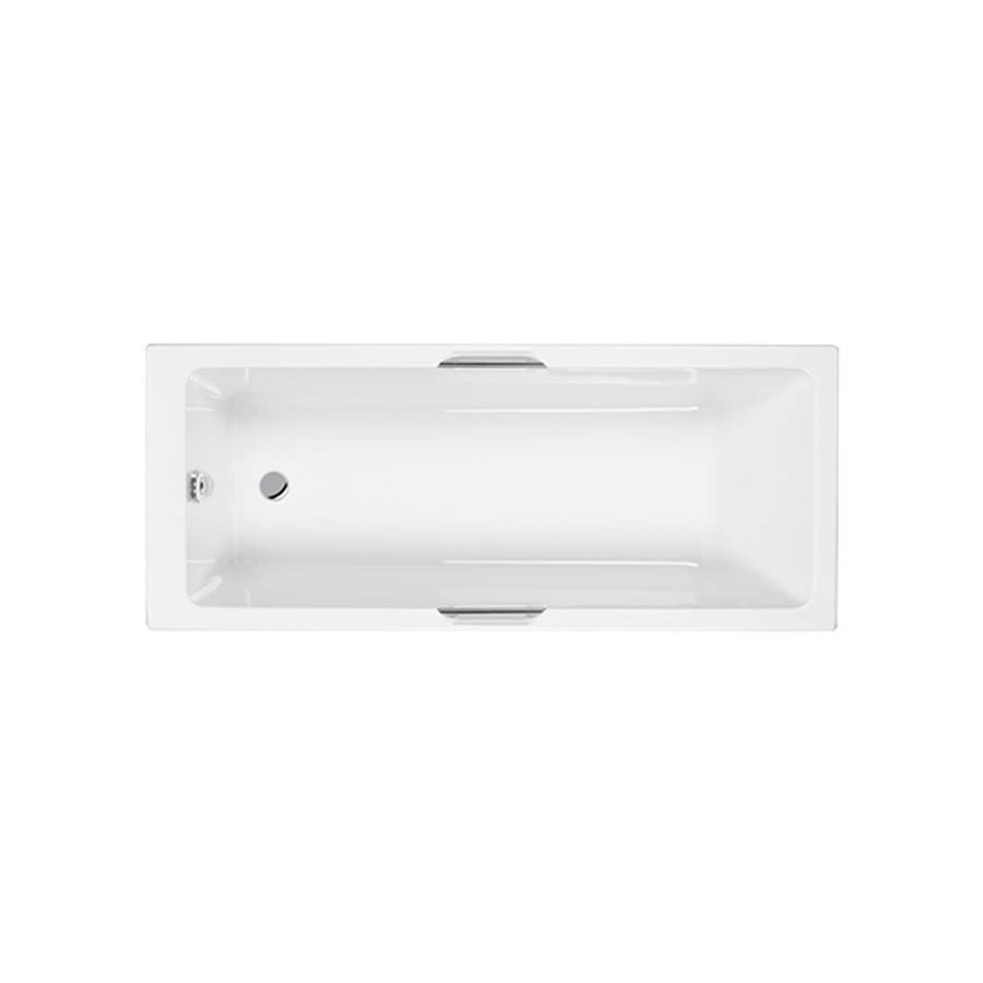 Carron Integra 1700 x 750mm Single Ended 5mm Acrylic Bath with Twin Grips-1