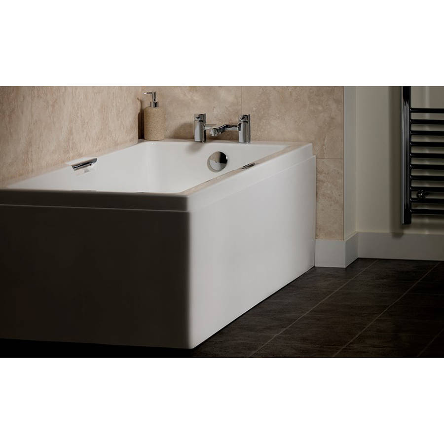 Carron Integra 1700 x 750mm Single Ended 5mm Acrylic Bath with Twin Grips-2