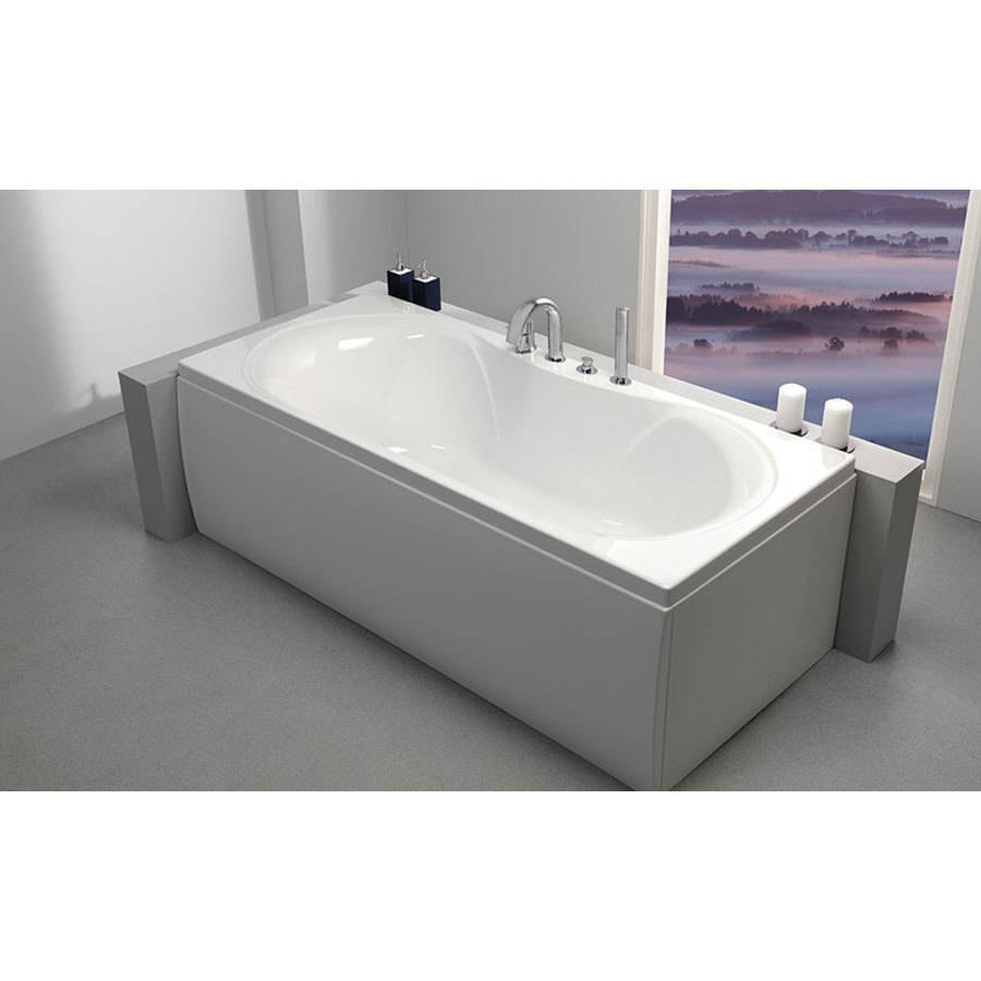 WSB-Carron Arc 1800 x 800mm Double Ended Carronite Bath-2