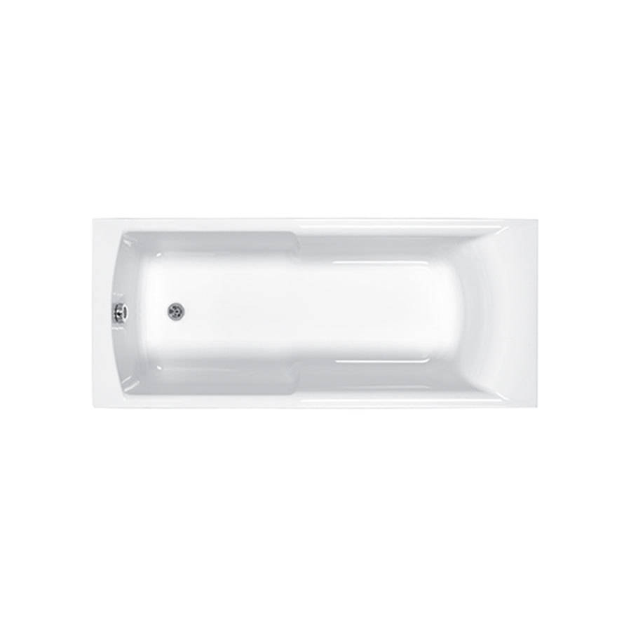 WSB-Carron Eco Axis 1600 x 700mm Single Ended 5mm Acrylic Bath with Grips-1