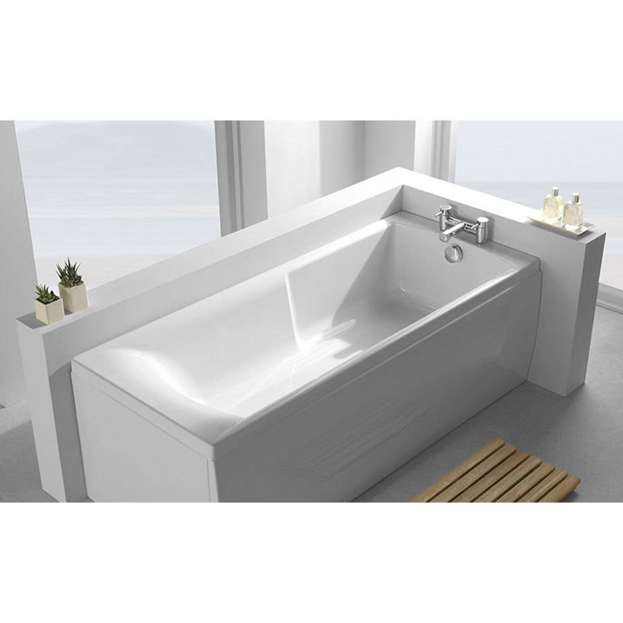WSB-Carron Eco Matrix 1600 x 700mm Single Ended 5mm Acrylic Bath-2