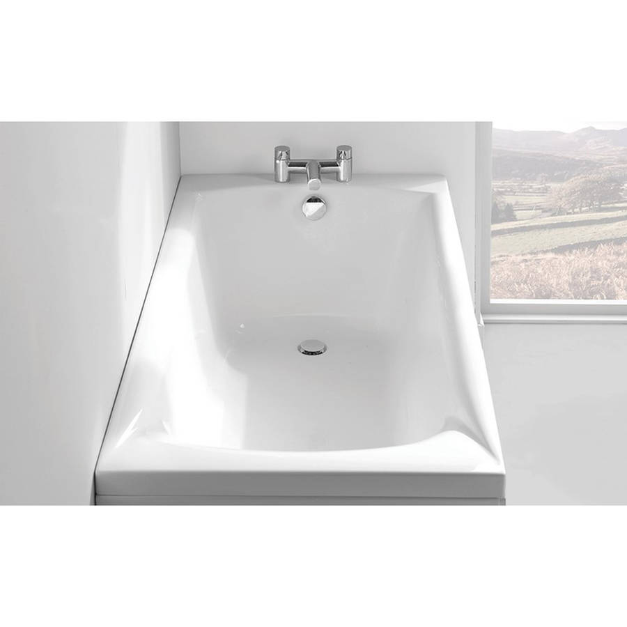 Carron Sigma 1600 x 750mm Single Ended Carronite Bath-2