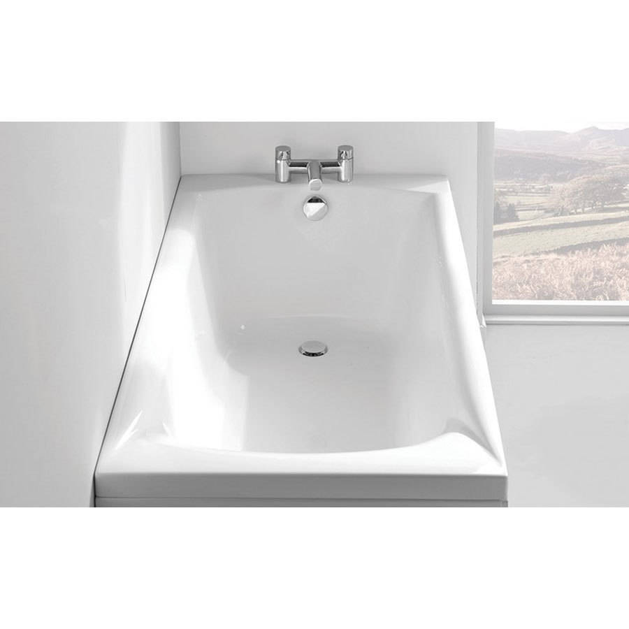 WSB-Carron Delta 1650 x 700mm Single Ended 5mm Acrylic Bath-2