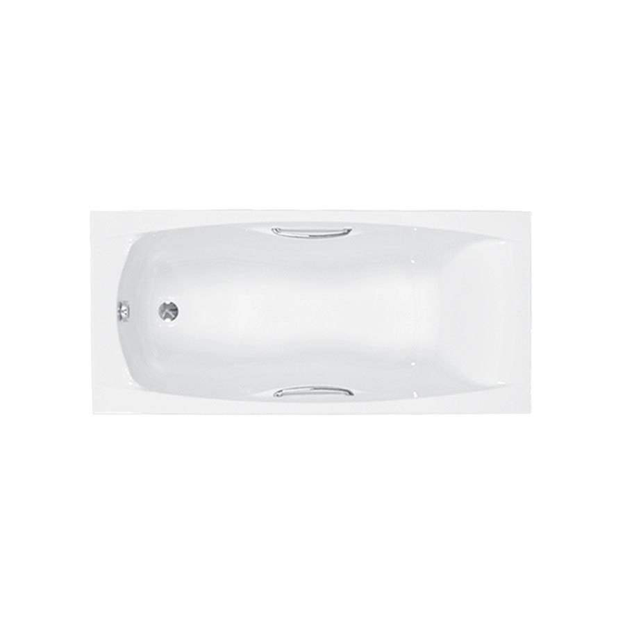WSB-Carron Imperial 1600 x 700mm Single Ended Carronite Bath with Grips-1