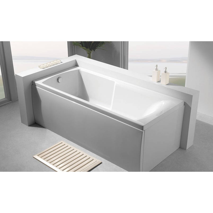 Carron Index 1700 x 750mm Single Ended Carronite Bath-2