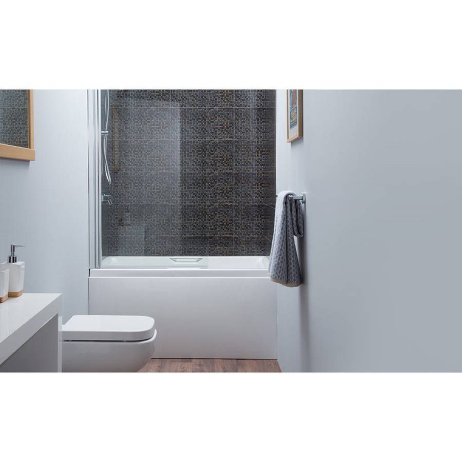 Carron Urban 1250 x 725mm Single Ended 5mm Acrylic Sit Bath with Grips-2