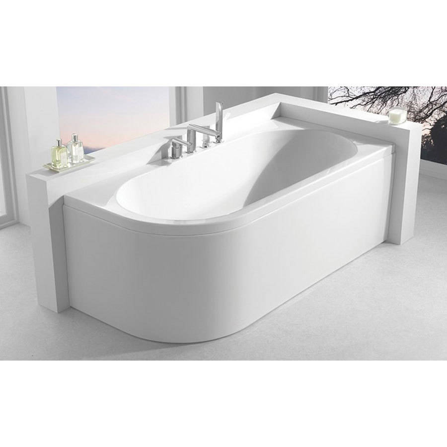 WSB-Carron Status 1600 x 725mm Double Ended LH Carronite Bath-2