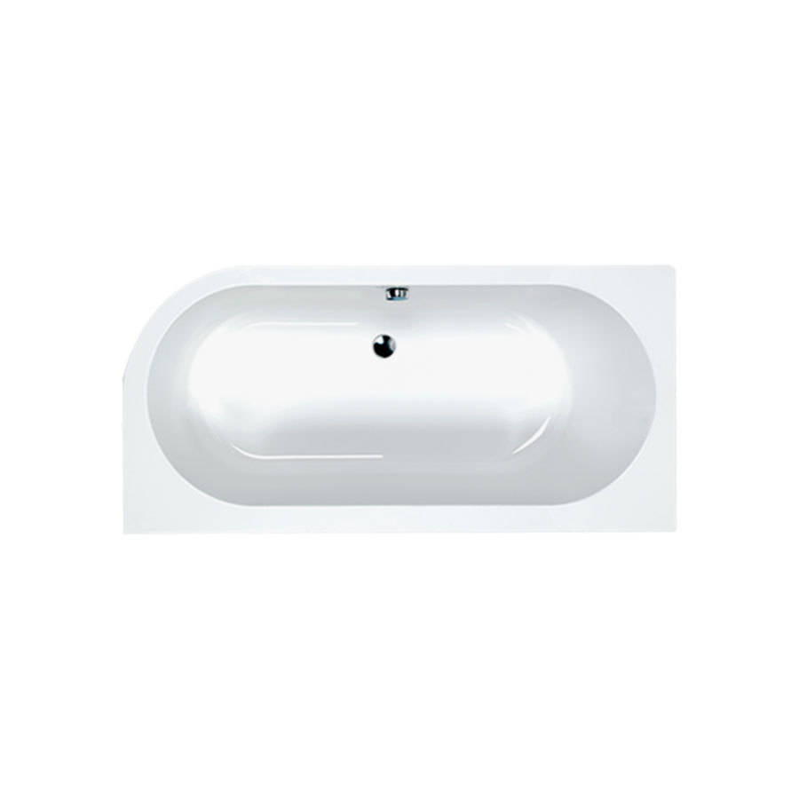 WSB-Carron Status 1600 x 725mm Double Ended RH Carronite Bath-1