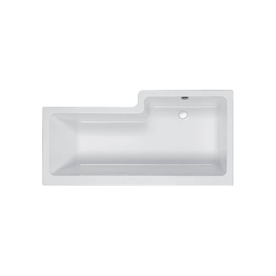 Carron Quantum 1700 x 700-850mm LH 5mm Acrylic Square Shower Bath