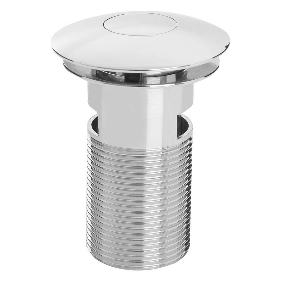 WS-Bristan Curved Push Button Basin Waste Slotted Chrome-1