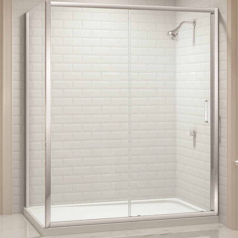 Merlyn 8 Series 1000mm Sliding Shower Door Live