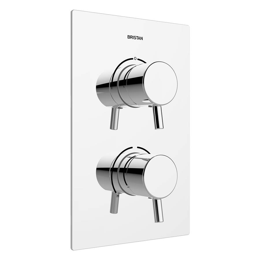 WS-Bristan Prism Thermostatic Recessed Dual Control Shower Valve with Integral Two Outlet Diverter-1