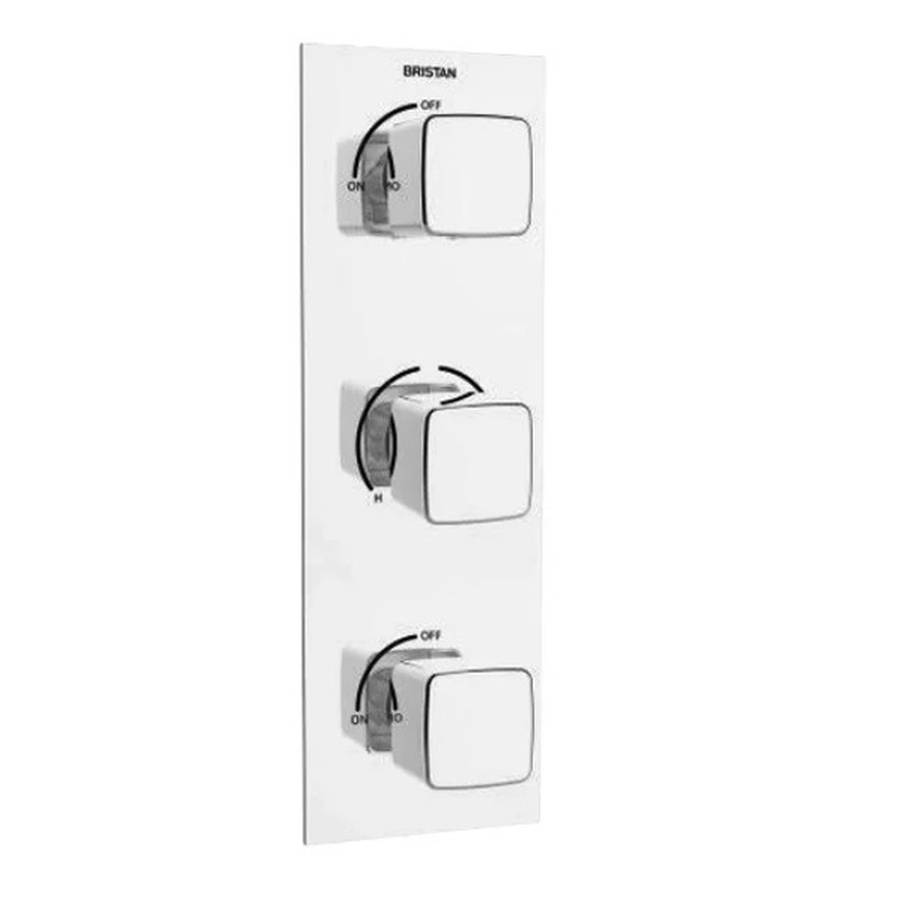WS-Bristan Cobalt Thermostatic Recessed Dual Control Shower Valve with Integral Twin Stopcocks-1