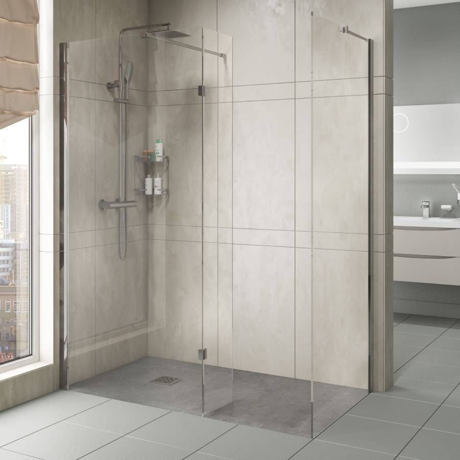 Cassellie Marna 8mm 800mm Wet Room Glass Panel 2